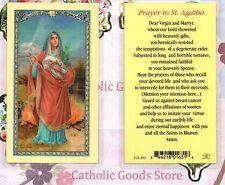 Saint. Agatha - Prayer to St. Agatha - Laminated Holy Card