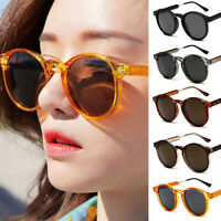 2019 Fashion Round Retro Sunglasses UV400 Outdoor Shades Women Mens Eyeglasses
