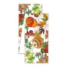 "Michel Design Works Pumpkin Melody Autumn Leaves Fruit Cotton 60"" Table Runner"