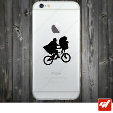 Sticker Autocollant Apple Iphone 4 5 6  Lot de 2X - E.T en velo spielberg IPH49