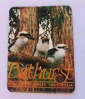 Bathurst NSW Three Kookaburras Australia Souvenir Magnet Vintage (R11)