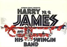 Harry James and His Swinging Band ORIGINAL A1 Konzertplakat 1970 GEROLLT JAZZ