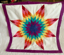 Rinbow Lone Star Patchwork Quilt Top #Ls-028