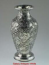 Rare Antique Chinese Solid Silver Vase Circa 1900