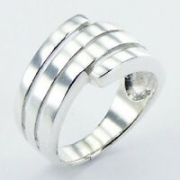 Silver ring 925 sterling band Spiral Tapered  design ring size 6us 7us 8us 9us