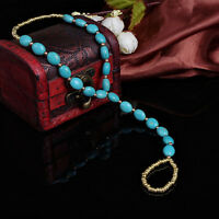 Turquoise Toe Ring Beads Barefoot Sandal Beach Ankle Bracelet Anklet Chain Cool