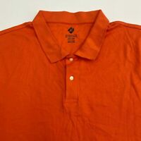 Members Mark Polo Shirt Men's Size 3XL XXXL Short Sleeve Orange Casual