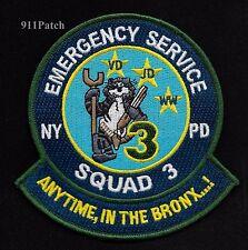 BRONX - New York ESS Truck 3 TOMCAT Emergency Service Squad Police Patch