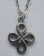 Chain Necklace #2346 Pewter TINY CELTIC KNOT (16mm x 12mm)