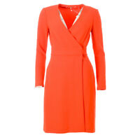 DVF DIANE VON FURSTENBERG Dress Bright Red Size US 4 / UK 8 RRP £322 BG 450