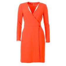 DVF DIANE VON FURSTENBERG Dress Bright Red Size US 4 / UK 8 RRP £322 BG 450