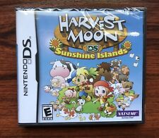 Nintendo DS Harvest Moon Sunshine Islands New Factory Sealed W/ Free Games &CASE