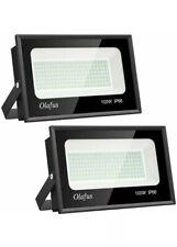 2 Olafus 100w Led Flood Lights 11000Lm Outdoor Lighting