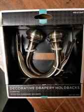 sn674 Decorative Drapery Holdbacks / gunmetal / set of two