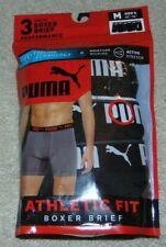 ~3 NEW Men's PUMA Performance Cooling Technology Boxer Briefs! Size M 32-34!