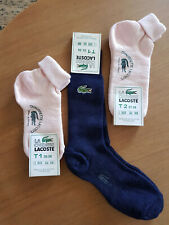 Lacoste Chaussettes VINTAGE NEUVES Made in France T1 & T2