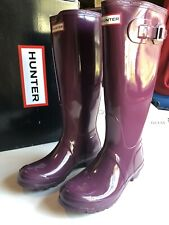 Stivali da pioggia HUNTER BOOTS EU 38 VIOLA + CALZA HUNTER NERA TAGLIA L