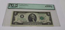 Fr. 1935-C 1976 Two Dollar Note $ 2 Philadelphia  PCGS Graded 63 Choice New Bill