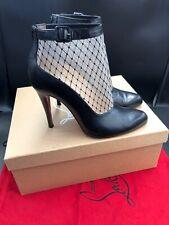 Christian Louboutin Resillissima 100 Black Leather Heels Boots Size Uk 6 Eu 39
