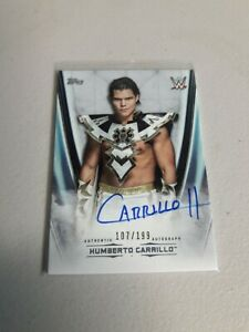2020 Topps WWE Undisputed Number to Carrillo On Card Auto 107/199 HOT!!