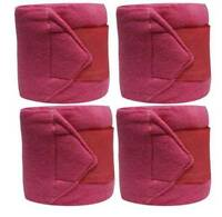 Set Of 4 PINK Fleece Polo/Leg Wraps ! NEW HORSE TACK!