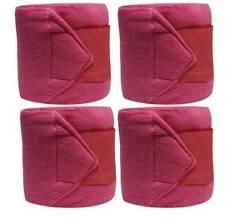 Set Of 4 PINK Fleece Polo/Leg Wraps ! NEW HORSE TACK!