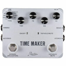 Rowin Twin Series LTD02 Time Maker Guitar Digital Delay FX Pedal with Tap Tempo