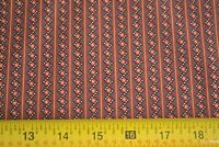 """By 1/2 Yd,  Rusts on Brown Quilting Cotton, """"Spice Chest"""", Andover/Morton, B19"""