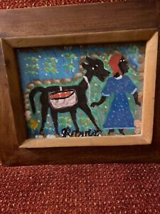 OUTSIDER AFRICAN AMERICAN PAINTING SIGNED