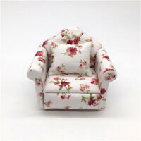 1:12 Dollhouse Miniature Furniture Vintage Sofa Armchair Couch Decor Toy Prop