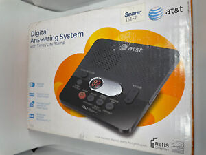AT&T 1740BK Digital Answering Machine System 60 MN Recording Time/Date Stamp