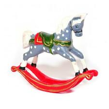More details for dolls house old fashioned rocking horse christmas nursery toy shop accessory
