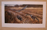 "MICK CAWSTON LIMITED EDITION SIGNED SHOOTING PRINT  ""PARTRIDGES FLUSHED"""