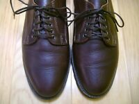 LITE WEAR Men's Shoes H.S. TRASK Oxfords Sz 8.5 Brown BISON Leather MADE IN USA!