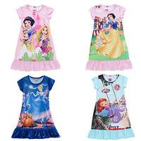 Toddler Kids Girls Dress Snow White Sofia Pajamas Nightgown Sleepwear 3-10 Years