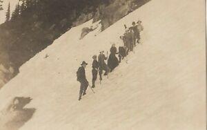 RP: Rainier National Park, Washington, 1910-30s ; Hikers on snow