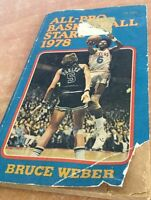 Bruce Weber Book All Pro Basketball Stars 1978 Rare kareem Abdul-jabbar