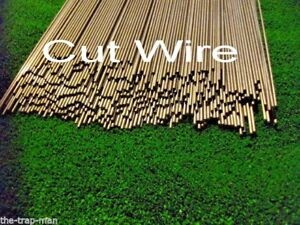 Wire mild steel bar 4mm dia 450mm long Straightened steel rod by The TrapMan