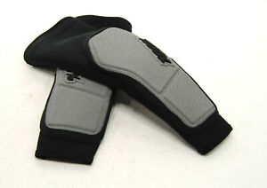 100% RIDECAMP Elbow Guards/Pads, Grey/Black, Size Adult Large
