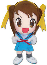 "Haruhi w/ Yellow Bow 8"" Plush (GE-8993) - Melancholy of Haruhi Suzumiya Series"