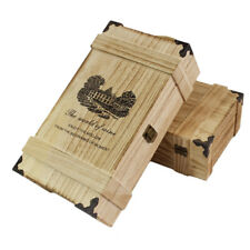Engraved Oak Style Wooden Two Bottles Wine Gift Box Wedding Valentines Lined