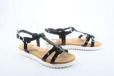 Women's Cute White Sole Open Toe Causal Buckle Flat Sandal Shoes Size 6 - 11 NEW