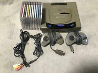 Sega Saturn game console bundle + 2 controllers + 12 games set SS from Japan