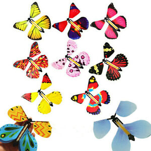 2/10pcs Magic Flying Butterfly Toy Anniversary Greeting Card Birthday Wedding