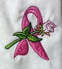 Breast Cancer Awareness T-Shirt 3XL Pink Ribbon White Rose L/S Unisex Blend New