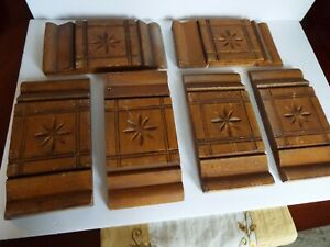 Lot Of 6 Matching Antique Architectural Salvage Plinth Blocks