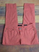 Jessica Simpson Womens Coral Pink Skinny Leg Forever Low Rise Pants Sz 28 W 26 L