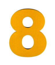 "3X2.5"" Reflective Number Sticker 8 EIGHT yellow vinyl decal address mailbox sign"