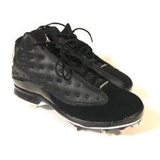Nike Air Jordan 13 XIII Retro Black Baseball Cleats AR4476-001 Mens Size 10.5