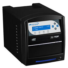 SharkBlu 1-1 Blu-Ray DVD CD Duplicator 500GB HDD USB 3.0 (LG Burner) BD-LG-1-BK